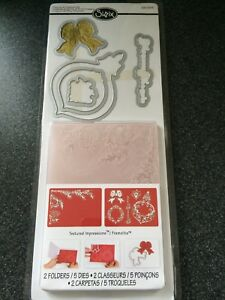 SIZZIX PINECONE AND ORNAMENT SET 5 DIES 2 EMBOSSING FOLDERS CHRISTMAS BAUBLE