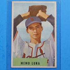 1954 Bowman Baseball Card #222 Memo Luna ~ No Major League Record ~ Ungraded