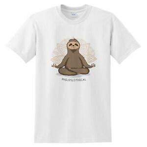 Philoslothical Funny T-shirt Gift Hot Yoga Sloth Meditate Meditation Pilates