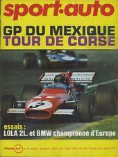 SPORT AUTO n°107 12/1970 GP MEXIQUE TOUR DE CORSE LOLA T290 +