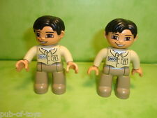 Lego duplo : lot de 2 figurines personnages lego duplo minifig zoo