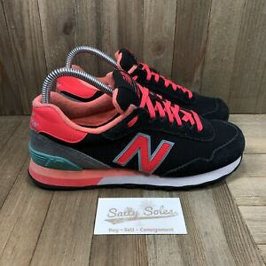 New Balance 515 Classic Suede Black Athletic Shoes (WL515BLC) Womens Size 7.5