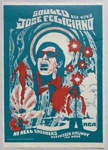 JOSE FELICIANO 1968 POSTER ADVERT SOULED Howard Bernstein Hi Heel Sneakers