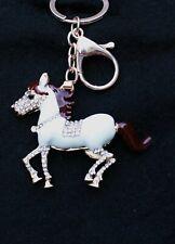 Keep Calm and Jump On Jockey /& Horse Metal Ring Key Chain Keychain