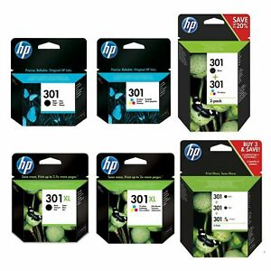 HP 301 / HP 301XL Black & Colour Ink Cartridge For DeskJet 1050 Printer Lot