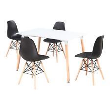 Schwarz 4er DSW Eiffel Stuhl Retro Design Esszimmerstuhl Wohnzimmerstuhl