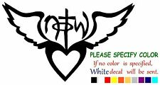 Not Of This World Heart & Wings  Funny Vinyl Decal Sticker Car Window laptop 7""
