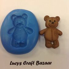 Silicone Mould Teddy Bears Picnic 3 Sugarcraft Cupcake Pop Topper Modelling Fimo