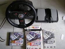 NASCAR Sim Racing, PC 2005, Steering Wheel & Logitech Foot Pedals, RARE