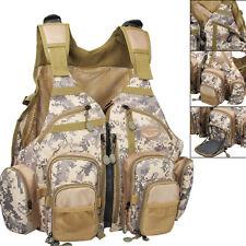 Fly Fishing Vest Camo Adjustable Multi Pocket Mesh Bag Outdoor Sports Vest 2018