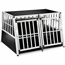 XXL Transportín doble para perros box jaula de transporte aluminio trapezoidal n
