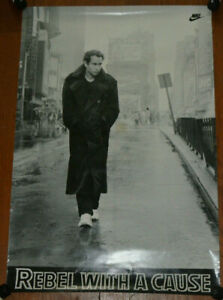 Original NIKE Ad Poster Rebel With A Cause John McEnroe James Dean Without VTG