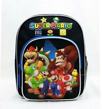 "Super Mario Bros Mini Backpack School Bag 10"" Licensed by Nintendo- Luigi Black"