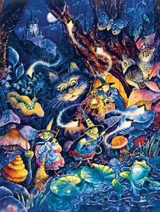 Jigsaw Puzzle Fantasy Mythology Cat withThree Witches 500 pieces NEW made in USA