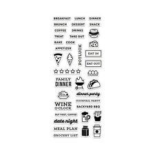 HERO ARTS Kelly Purkey Clear Stamps KELLY'S FOOD PLANNER  CL914