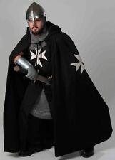 Medieval White Templar Crusader Tunic,Surcoat & Cloak Reenactment SCA Larp