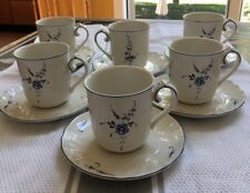 Villeroy and Boch Vieux Luxembourg SET OF 6 Large Cups And Saucers. NEW