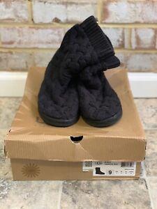 UGG Australia Womens Isla Boot Shoes 1008840W Black USA 9 EU 40
