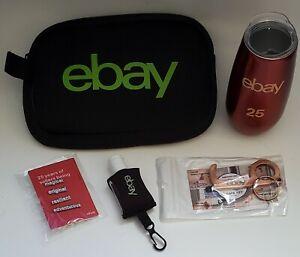 eBay 25th Anniversary Swag Sellerbration Gifts Tumbler Pins Sanitizer Door Hook