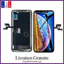 ECRAN LCD OLED RETINA VITRE TACTILE SUR CHASSIS POUR IPHONE X/10 NOIR ASSEMBLÉ