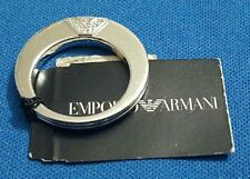 Emporio Armani EG2545040 Women's Logo Crystal Sterling Silver 0.925 Ring Size 9