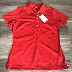 New W/ Logo Womens Nike Golf Polo MEDIUM RED MSRP $45 394665