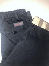 Boys Burberry Navy Trousers 3yrs 100cm