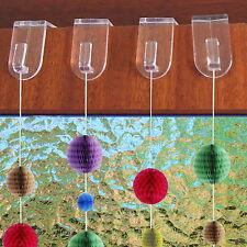 4 - 20 Stück Fensterhaken Türhaken Dekohaken transparent Fensterdekoration