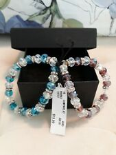 Crystal Bracelets Set Of Two Blue And Brown NWT