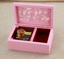 Pink Wooden Rectangle Jewelry Music Box ♫  Sailor Moon Moonlight Densetsu ♫