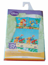 GENUINE DISNEY WINNIE THE POOH SINGLE BED DUVET COVER PILLOWCASE SET COTTON