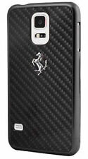 Ferrari real de fibra de carbono Estuche Rígido Ultra delgada Samsung Galaxy S5 Negro fecbguhcs