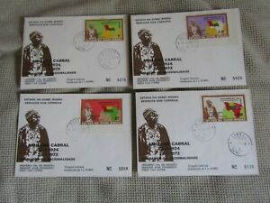 Rare Set Guinea-Bissau 1974 First Day Cover Limited Circulation Numbered