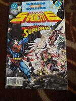1994 BLOOD SYNDICATE VS. SUPERMAN #16 ( WORLDS COLLIDE )  DC MILESTONE