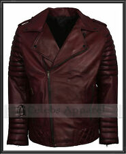 Soft Mens Vintage Motorbiker Boda Waxed BRANDO Genuine Leather Jacket - SALE