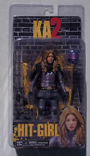 KICK ASS 2. HIT-GIRL. UNMASKED ACTION FIGURE. KA2. NEW ON CARD. W/ ACCESSORIES