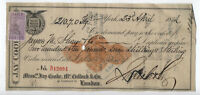 1872 Jay Cooke intl bill of exchange type D with british revenue [y4963]