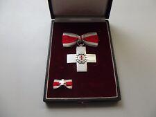 Rotes Kreuz Verdienstkreuz silber im Etui mit Schleife