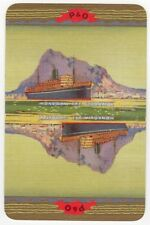 Playing Cards Single Card Old P&O Shipping Line Advertising Art SS MONGOLIA day