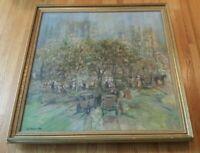 VERY NICE, LARGE - JOHN ROBERT WILLER - Painting - Park/Landscape Scene SIGNED