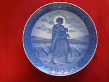 "1957 Royal Copenhagen Rc Christmas Plate "" Good Shepherd """