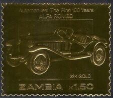 Zambia GOLD Car/Alfa Romeo 1v ref:n10889