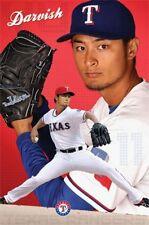 BASEBALL POSTER Yu Darvish Texas Rangers MLB