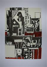 Sergio de Castro Album signé 14 estampes 1992 art abstait artiste Argentin