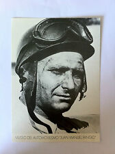 Juan Manuel Fangio Official Museum Picture Argentina Museo - NEW - (F-19)