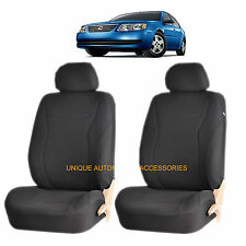 BLACK SPEED AIRBAG COMPATIBLE FRONT LOWBACK SEAT COVER for SATURN ION RELAY VUE