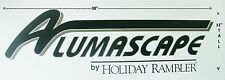 OEM HOLIDAY RAMBLER ALUMASCAPE RV CAMPER 5TH WHEEL DECAL 38X11 GREEN GRAPHIC