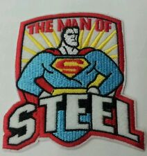 Man of Steel embroidered patch 10cm x 10cm