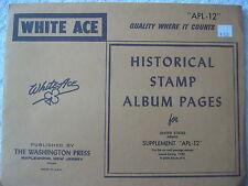 "1980 WHITE ACE STAMP ALBUM SUPPLEMENT "" APL-12 "" USA AIRMAIL BLOCKS OF 4"