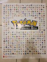 Rare!!! Pokemon Collectors Gigantic Pokedex Pokemon Poster 2004 Prima Games